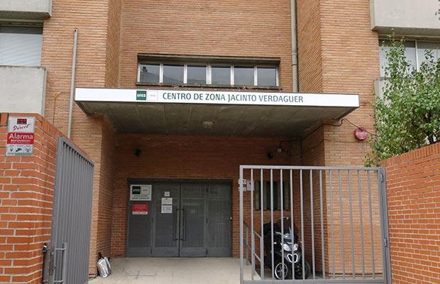 Sede Jacinto Verdaguer, fachada de la entrada principal.