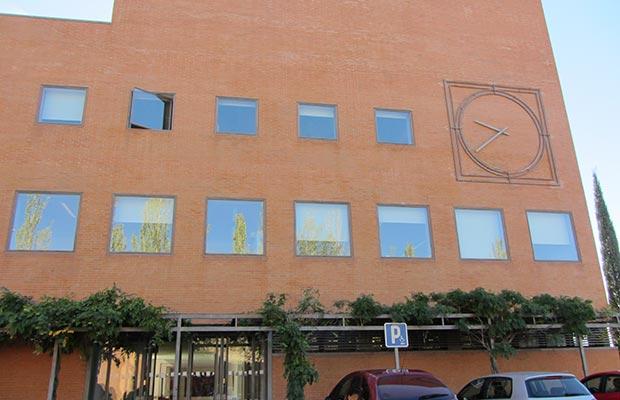 Sede de las Rozas de Madrid, fachada de la entrada principal.