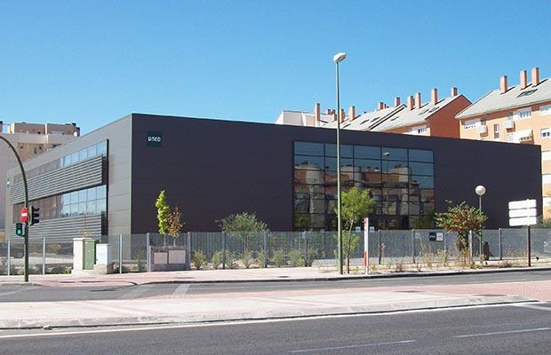 Sede de las Tablas. Fachada entrada principal, vista del edificio.