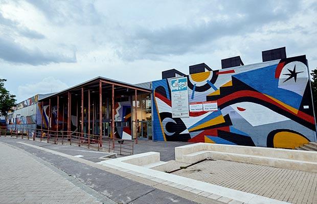 Sede Rivas Vaciamadrid, fachada entrada principal.