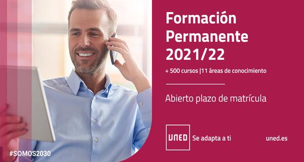 Campaña matrícula Formación Permanente. UNED 2021-2022.