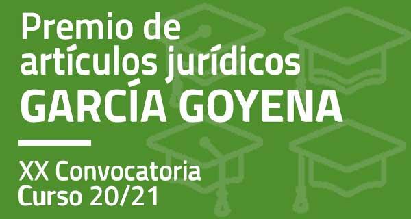 Premio de artículos jurídicos García Goyena