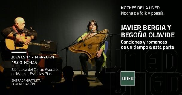Cartel del programa, imágenes de los dos músicos con sus instrumentos.